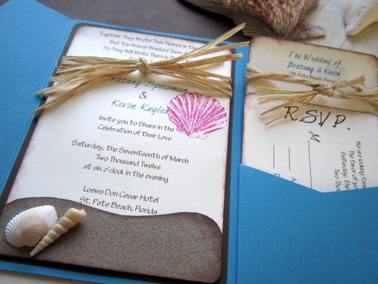 Beach Wedding Invitation Templates Beach Wedding Invitation Wording