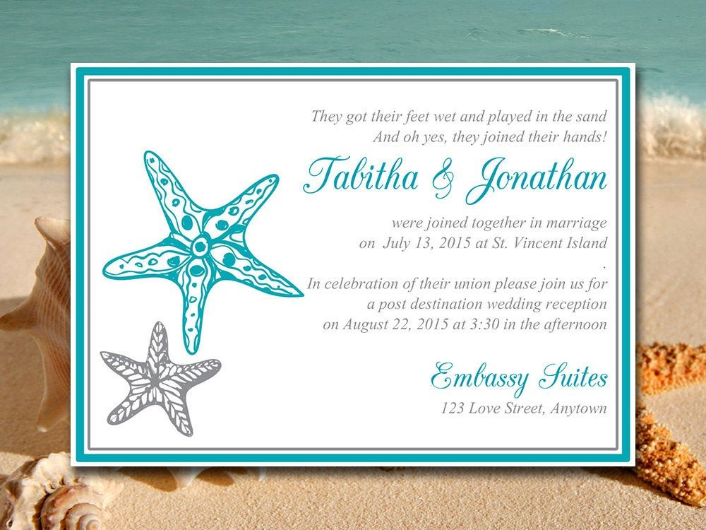 Beach Wedding Invitation Templates Beach Wedding Reception Invitation Template Blissful
