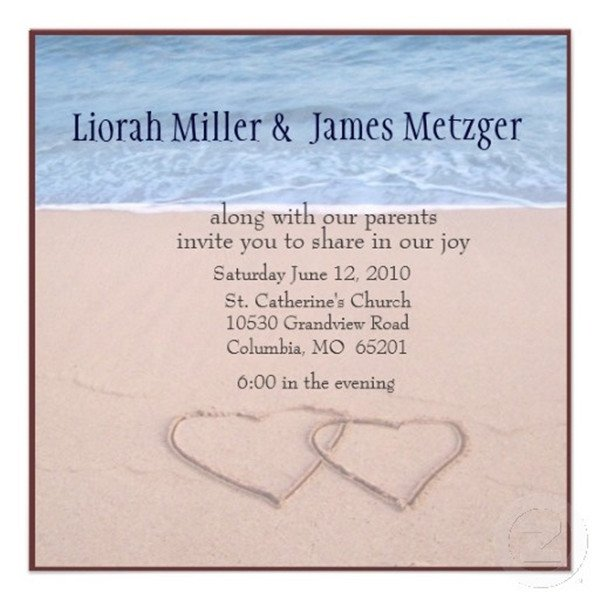 Beach Wedding Invitation Templates Seal and Send Beach Wedding Invitations to Set the tone