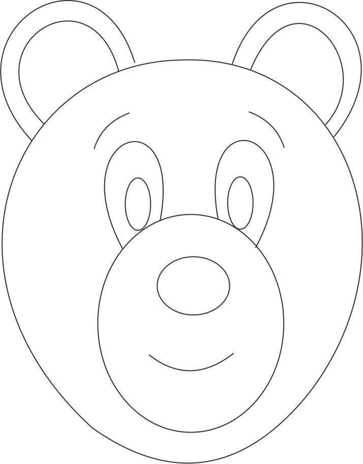 Bear Face Template 17 Best Ideas About Bear Mask On Pinterest