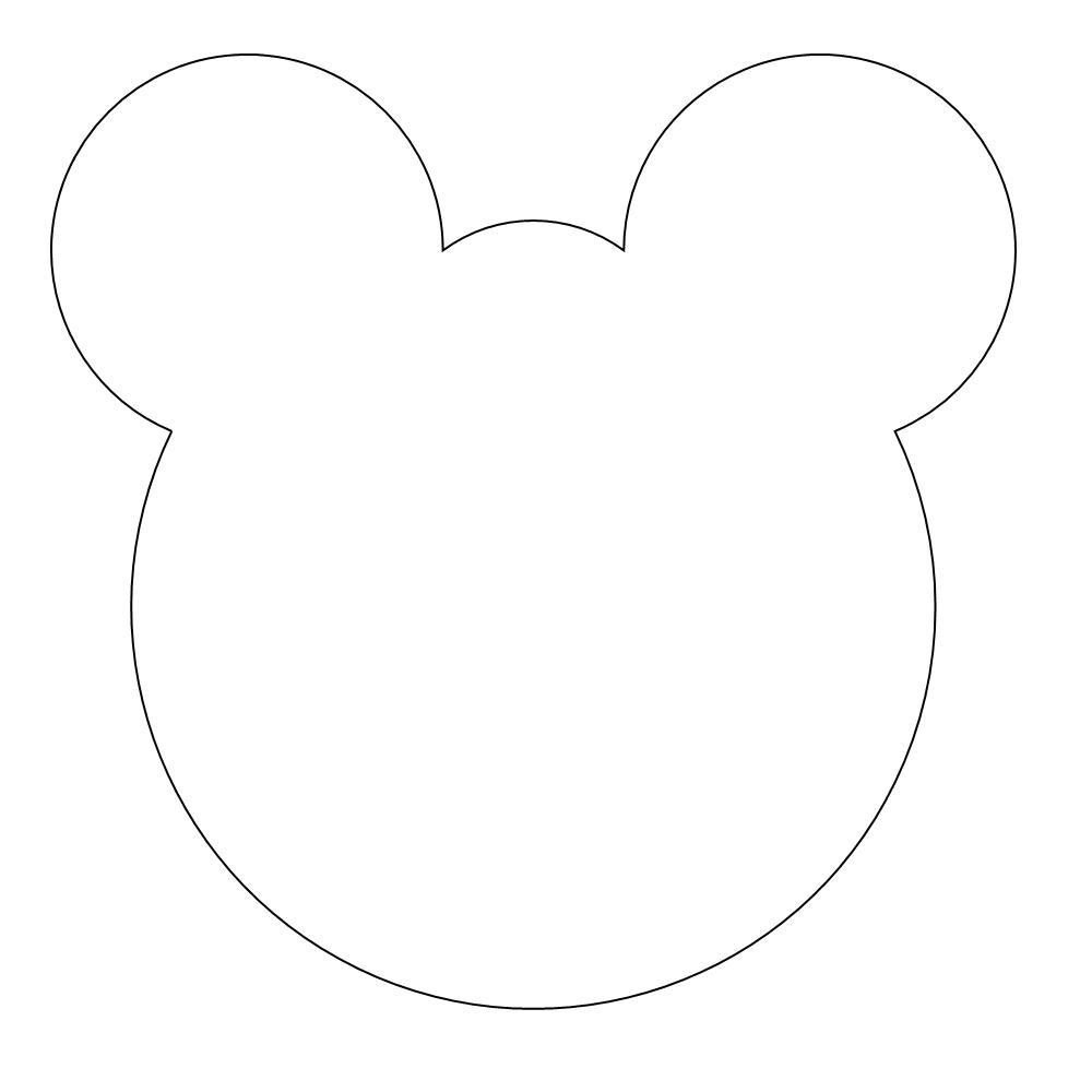 Bear Face Template Animals – Early Play Templates