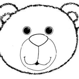 Bear Face Template Bear Face Clipart