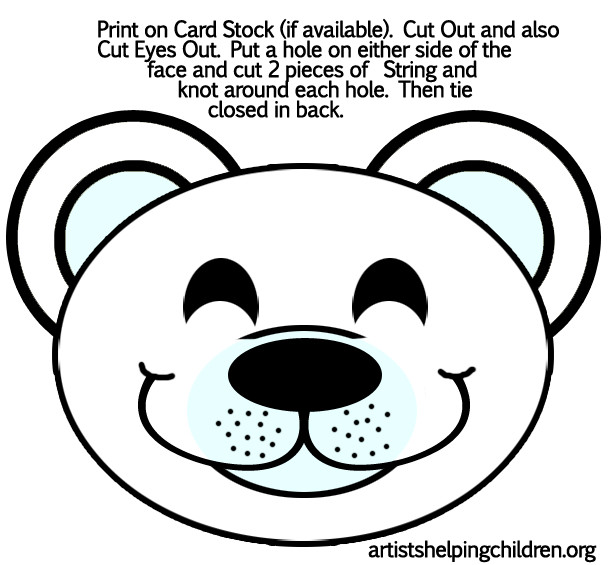 Bear Face Template Magic Tree House Book Club Polar Bears Past Bedtime