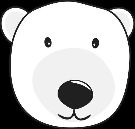 Bear Face Template Polar Bear Head Polar Bears