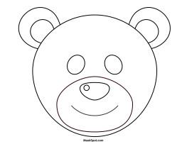 Bear Face Template Printable Bear Mask