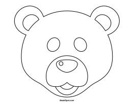 Bear Face Template Printable Polar Bear Mask