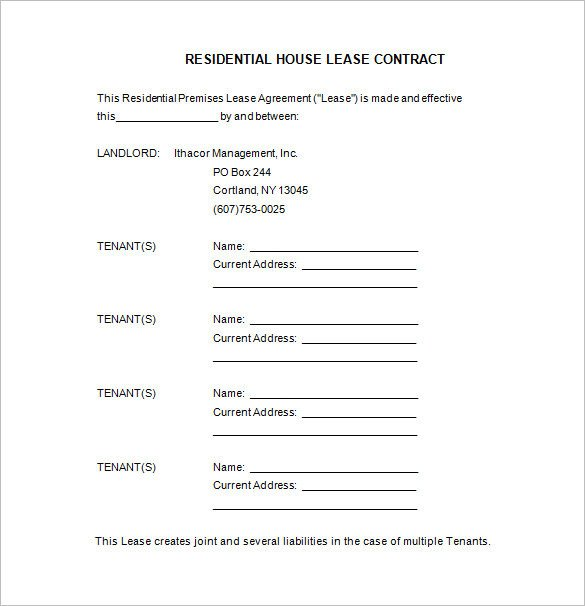Beat Lease Contract Template 11 Lease Contract Templates Free Word Pdf Documents