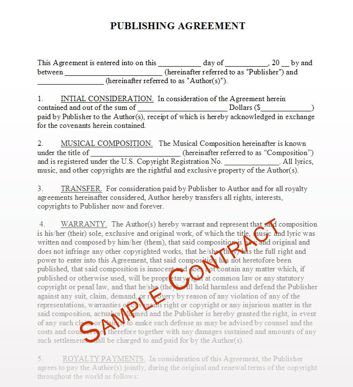 Beat Lease Contract Template Free Music Contracts Protect Your Brand