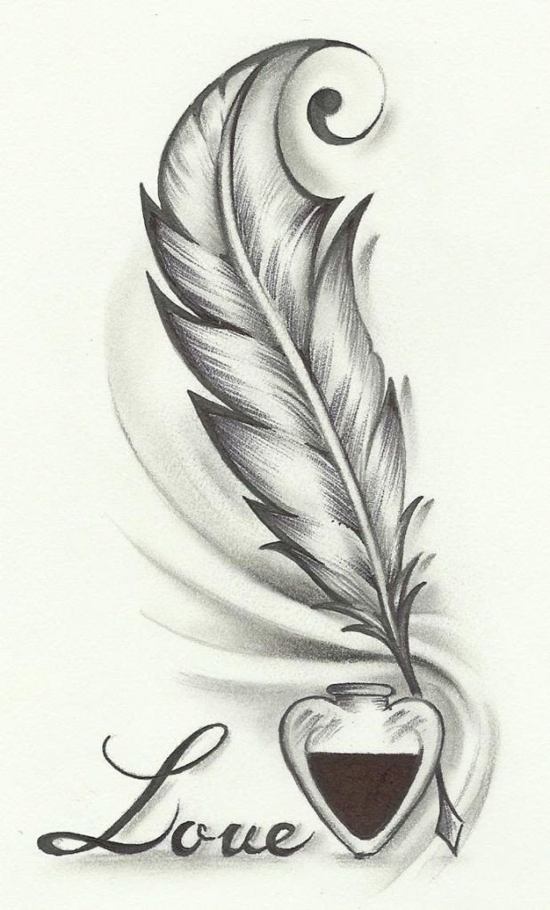 Beautiful Drawings Of Love Beautiful Simple Drawings Love 1000 Ideas About Feather
