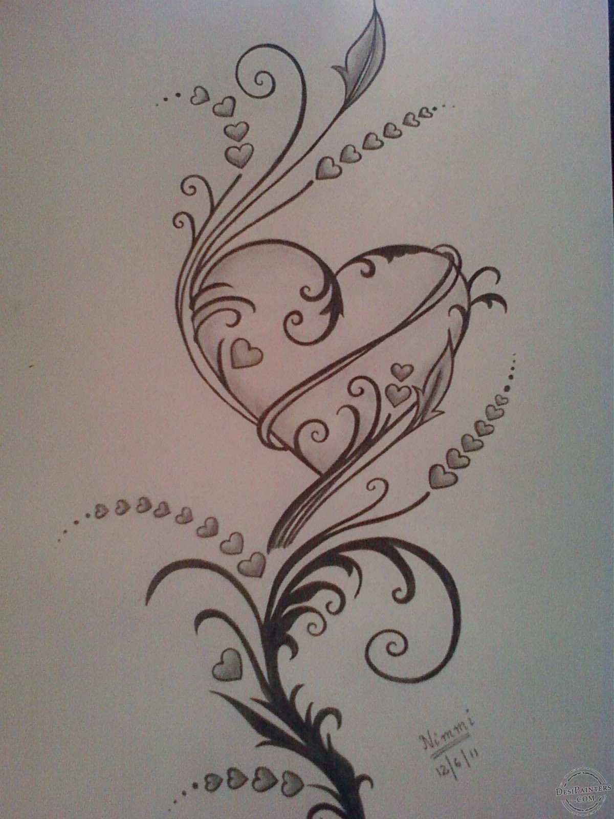 Beautiful Drawings Of Love Pencil Sketches Hearts Love
