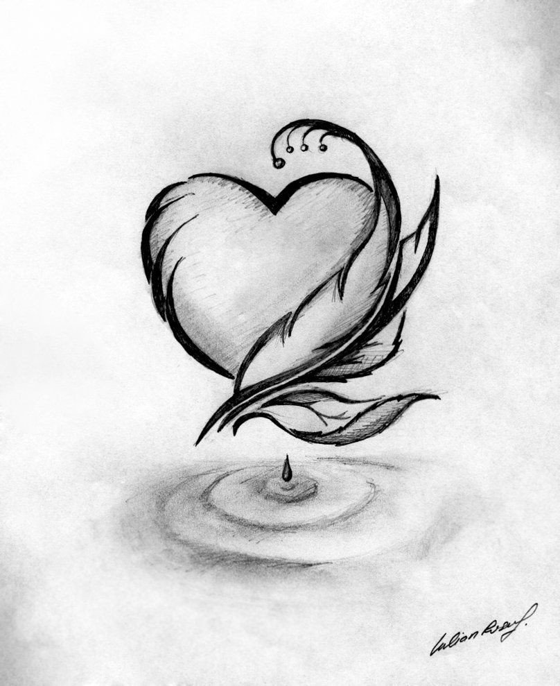Beautiful Drawings Of Love Pics for Simple Black and White Drawing Ideas …