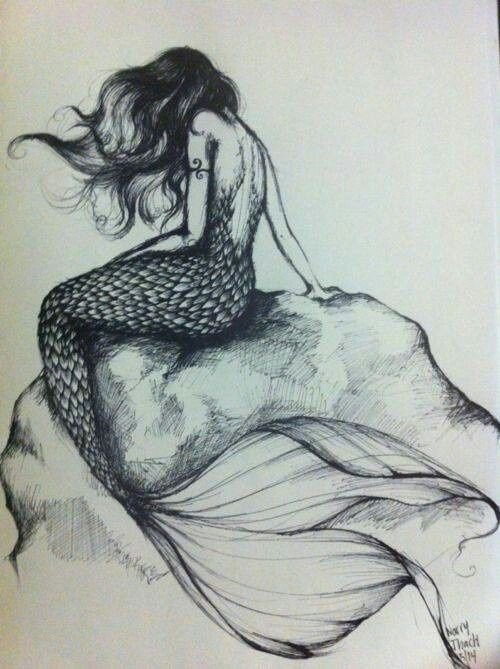 Beautiful Drawings Of Love Sketches ♥ Pencil Drawings Mermaid