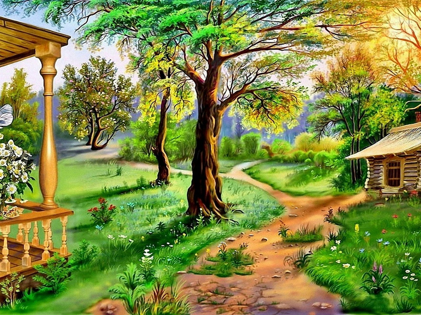 Beautiful Drawings Of Nature Beautiful Landscape Nature Art Wallpapers13