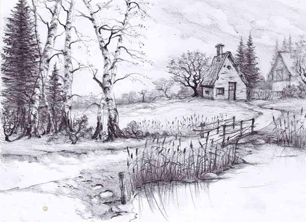 Beautiful Drawings Of Nature Beautiful Pencil Drawings Of Nature