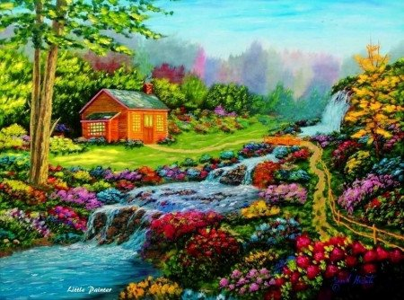 Beautiful Drawings Of Nature Lovely Falls Waterfalls & Nature Background Wallpapers