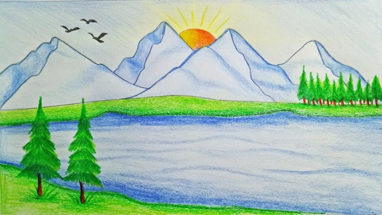 Beautiful Drawings Of Nature Most Beautiful Scenes the Nature Drawing How to Draw