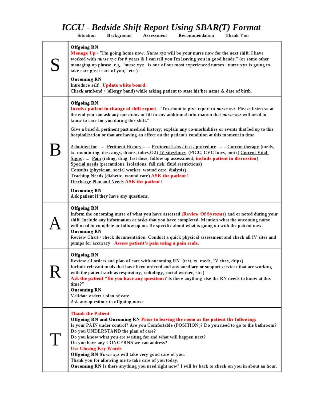 Bedside Shift Report Template issuu Ccu Bedside Shift Report Template by Ian Saludares