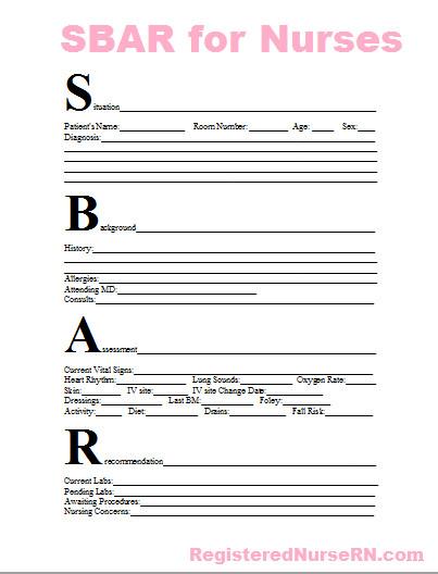 Bedside Shift Report Template Nursing Report