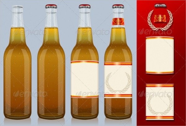 Beer Bottle Label Template 21 Beer Labels Psd Vector Eps Download