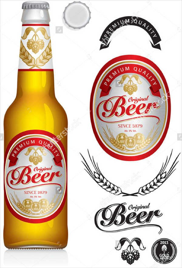 Beer Bottle Label Template 7 Beer Bottle Label Templates Design Templates