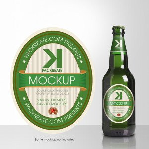 Beer Bottle Label Template Packreate Champagne Bottle Label Psd Template