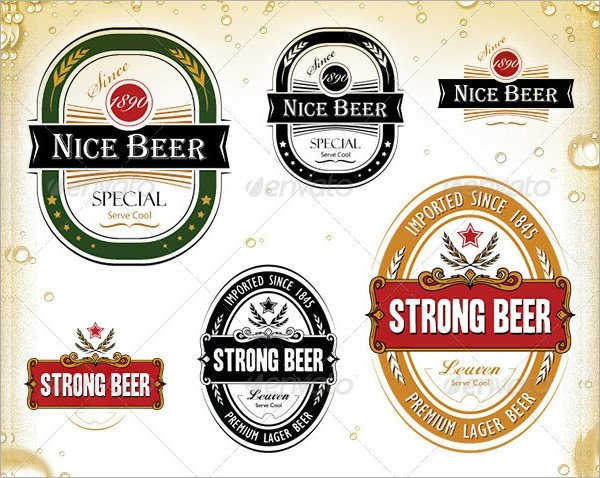 Beer Bottle Label Template Sample Beer Label Template 6 Premium Download