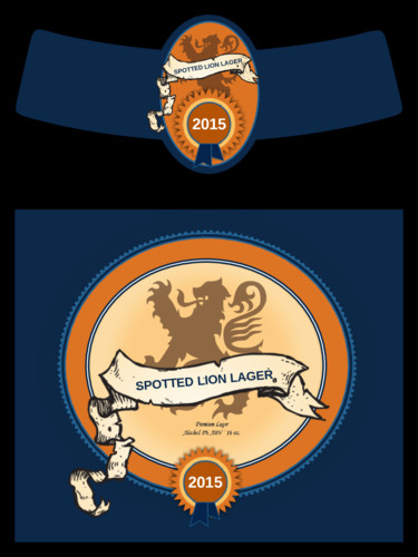 Beer Bottle Label Template Spotted Lion Lager Beer Bottle Label Label Templates