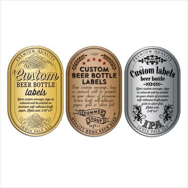 Beer Label Template Free 51 Bottle Label Templates
