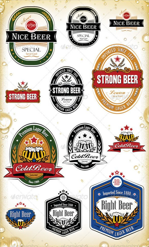 Beer Label Template Illustrator Beer Label Template 27 Free Eps Psd Ai Illustrator