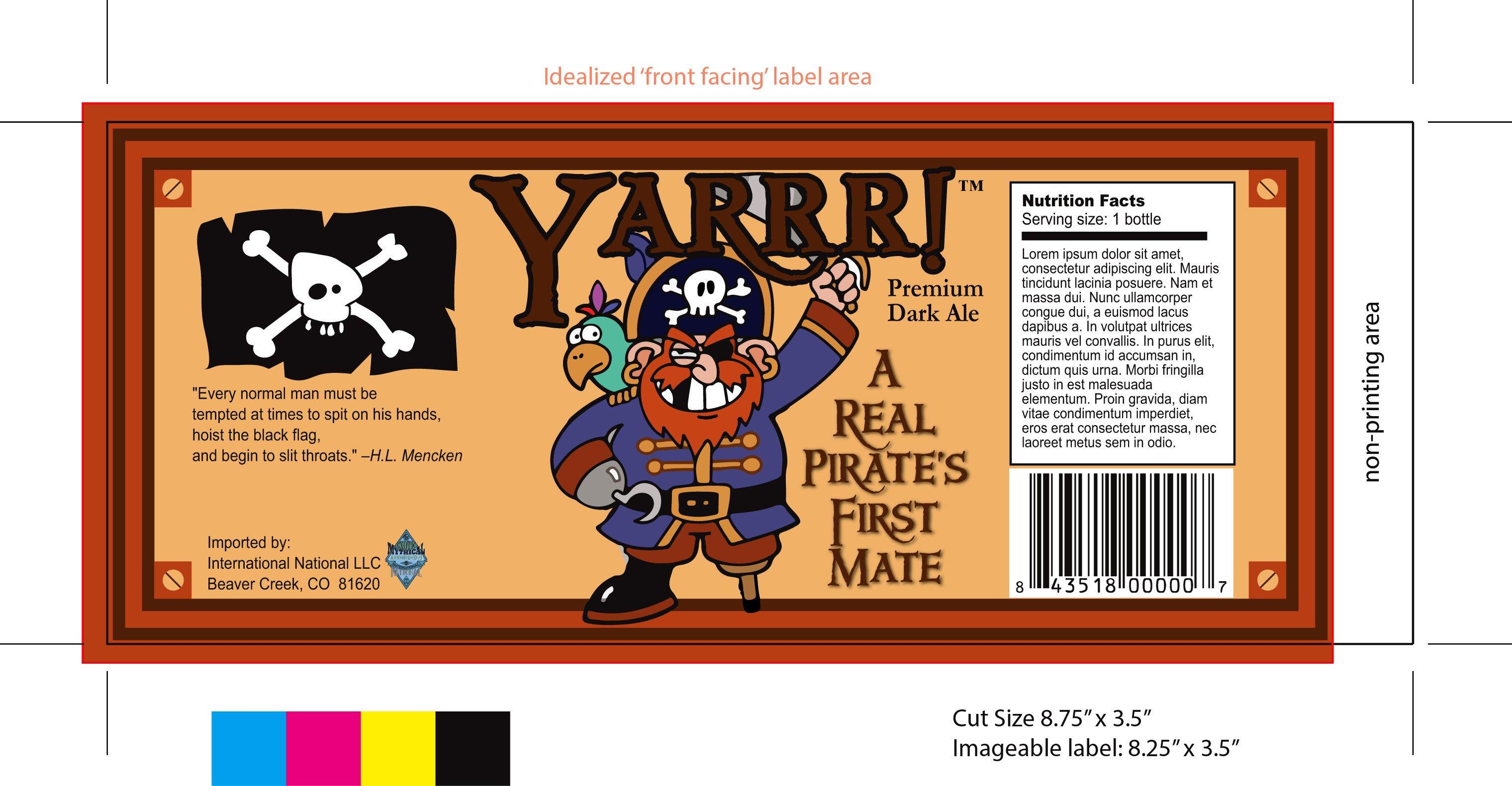 Beer Label Template Illustrator Yarrr Beer