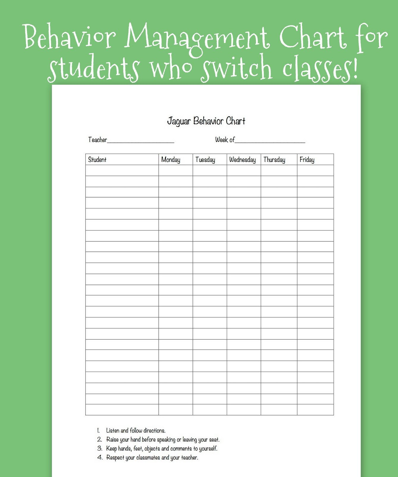 Behavior Charts for Teachers Tween Teaching Classroom Behavior System for Upper Grades