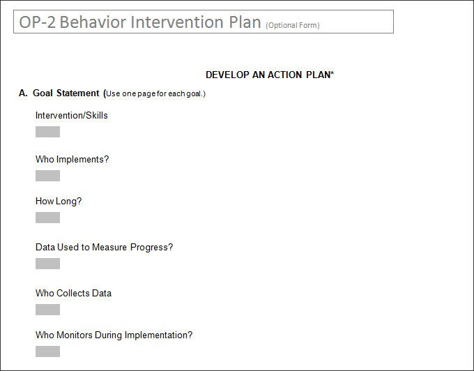 Behavior Intervention Plan Template Behavior Intervention Plan Template 4 Free Word Pdf