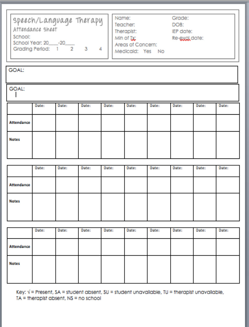 Behavior Tally Sheet Template Busy Bee Speech Data Data Data