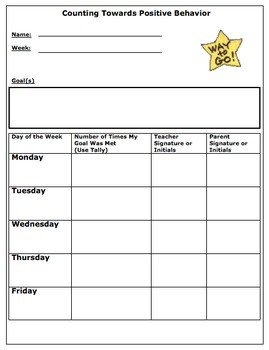 Behavior Tally Sheet Template the Ugly Duckling Classroom Teaching Resources