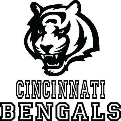 Bengals Pumpkin Carving Stencils Cincinnati Bengals Football Logo & Name Custom by