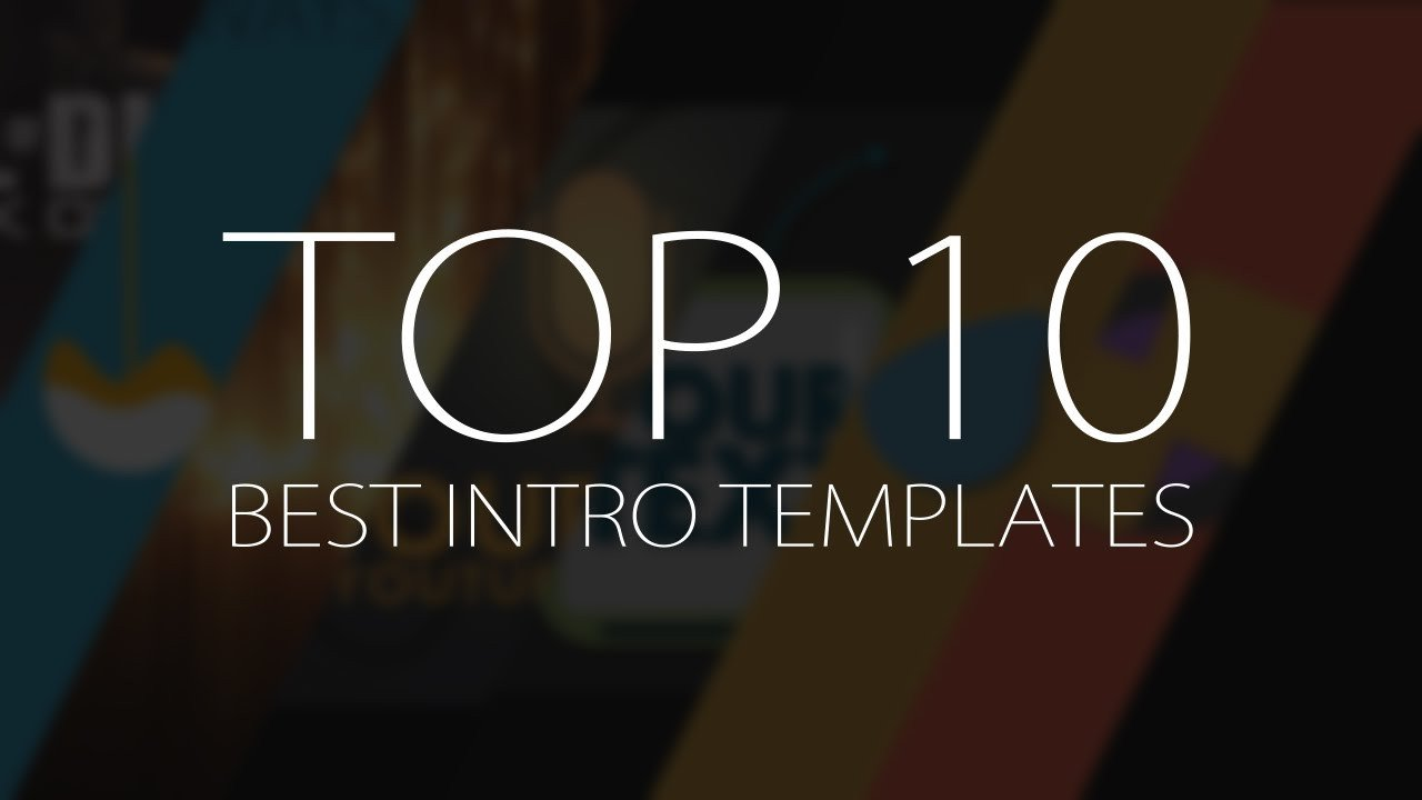Best after Effects Templates top 10 Best Motion Graphics Intro Templates April 2017