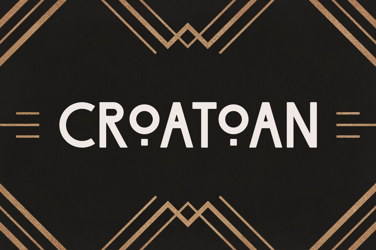 Best Art Deco Fonts Croatoan Art Deco Headline Font — Medialoot