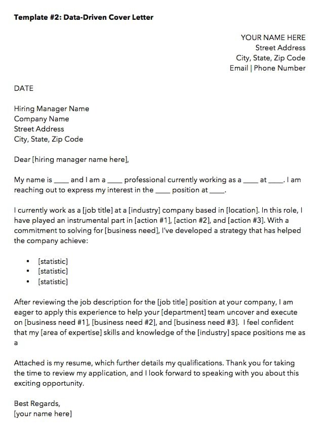 Best Cover Letter Template 10 Cover Letter Templates to Perfect Your Next Job Application