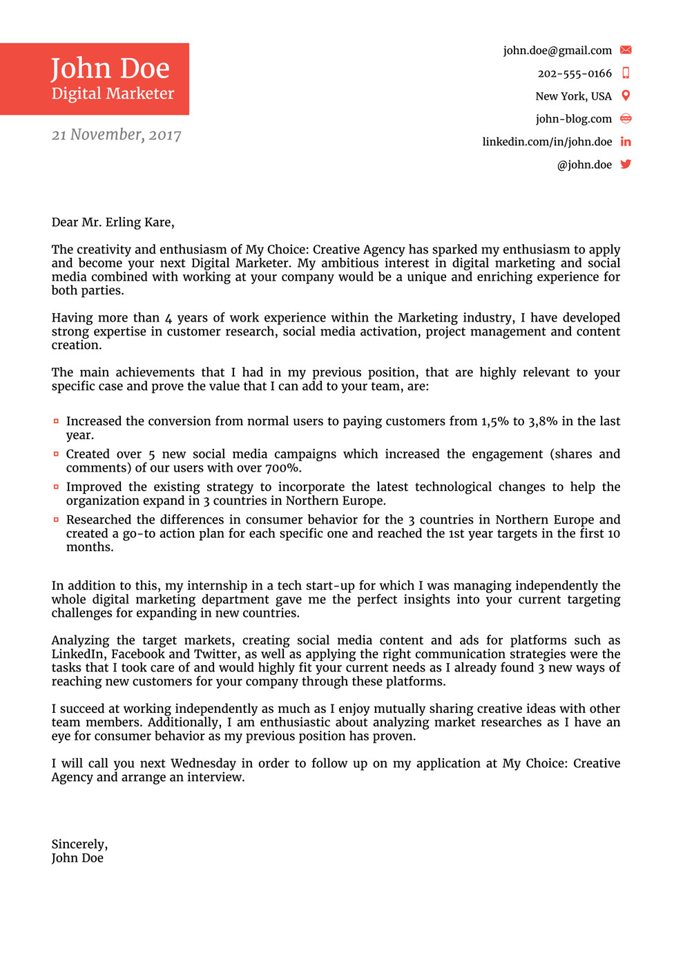 Best Cover Letter Template 8 Cover Letter Templates for 2019 [that Hr Will Love ]
