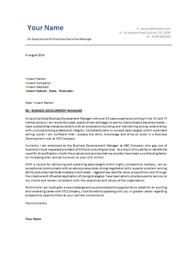 Best Cover Letter Template Cover Letter Examples