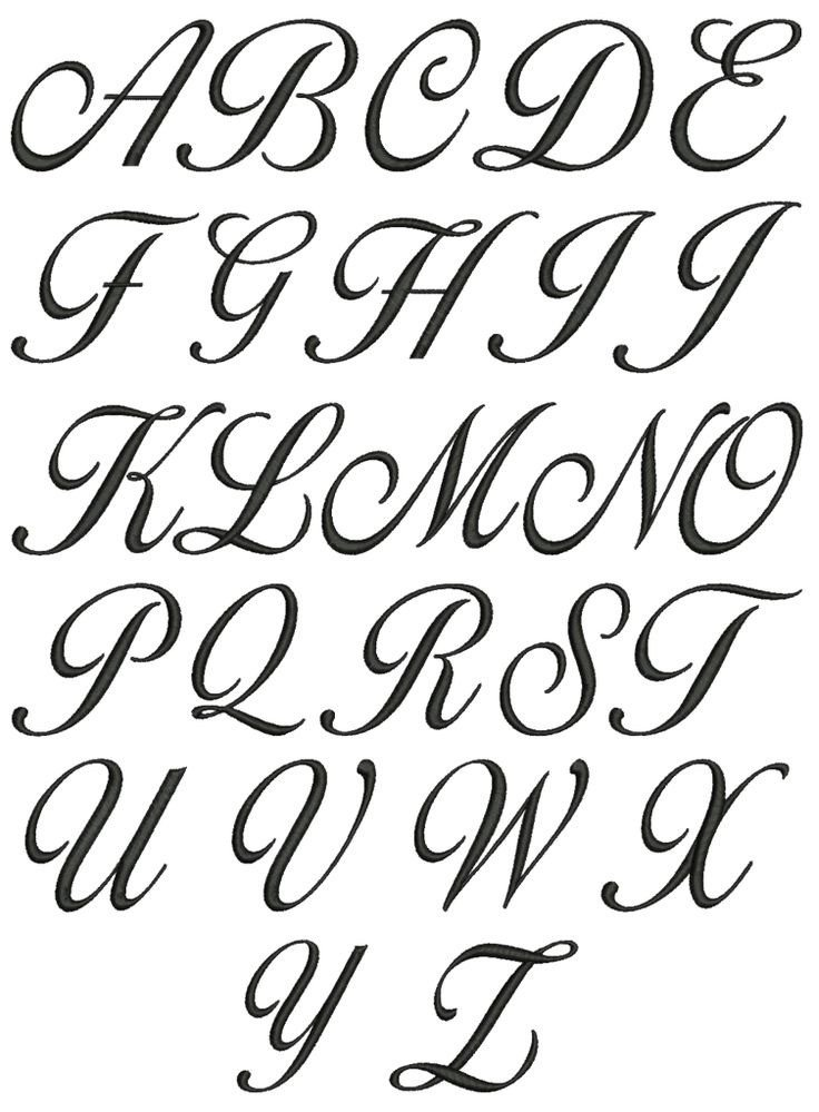 Best Cursive Tattoo Fonts Best 25 Cursive Fonts Alphabet Ideas Pinterest