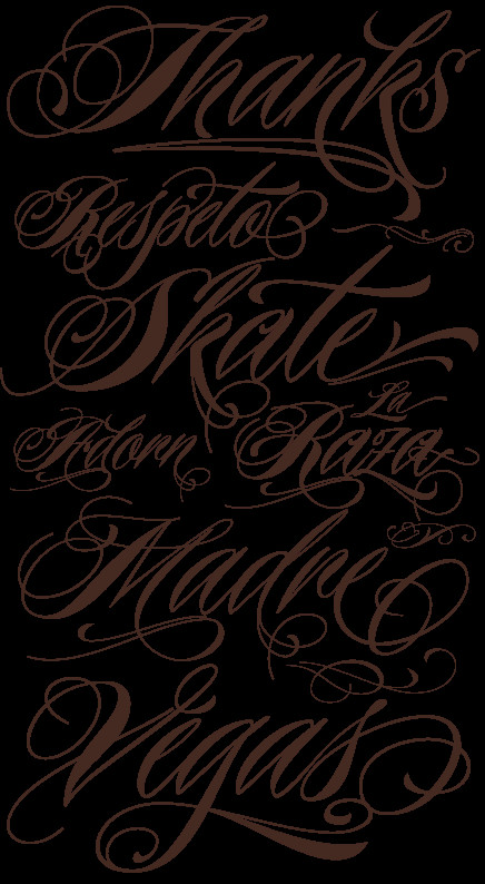 Best Cursive Tattoo Fonts Choosing Tattoo Tattoo Font Styles