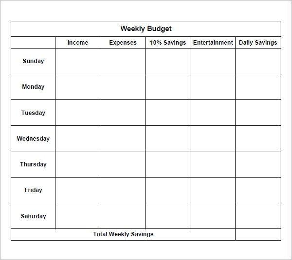 Bi Weekly Budget Worksheet 7 Bi Weekly Bud Template