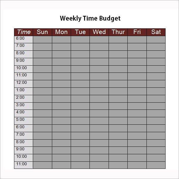 Bi Weekly Budget Worksheet 9 Examples Of Bi Weekly Bud Templates Word Pages