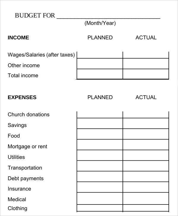 Bi Weekly Budget Worksheet Biweekly Bud Template 8 Free Word Pdf Documents