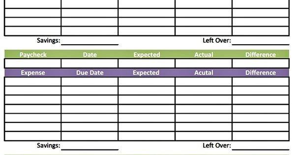 Bi Weekly Budget Worksheet Bud Worksheet Printable