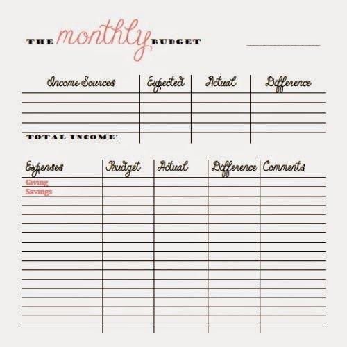 Bi Weekly Budget Worksheet Free Monthly and Bi Weekly Bud Printables