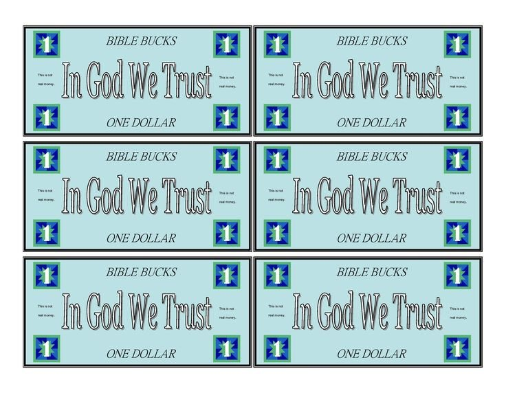 Bible Bucks Template Bible Bucks Play Money Template Kidsmoneyfarm
