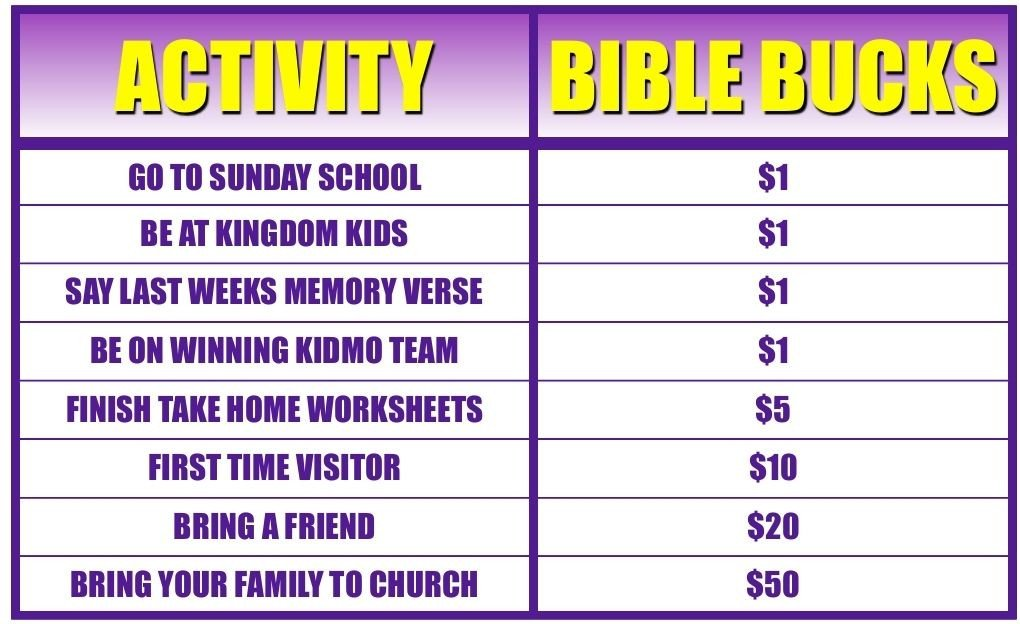 Bible Bucks Template Bible Bucks Store Google Search