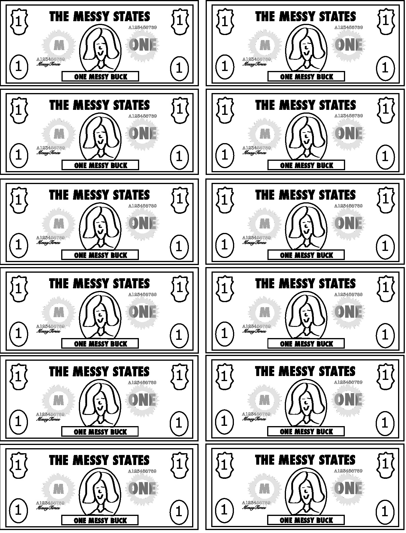 Bible Bucks Template Messy Bucks – Print Your Own Reward Play Money – Messy Times